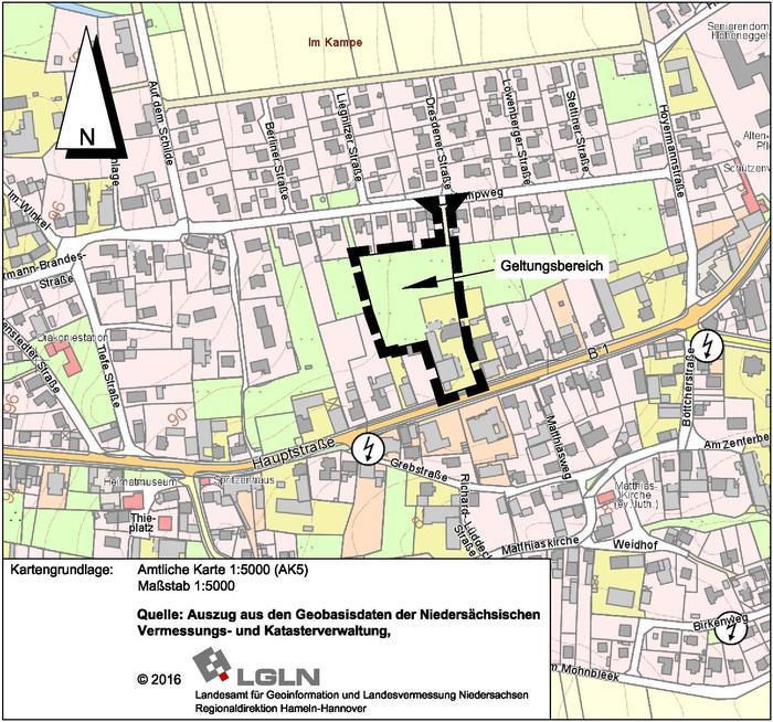 170825 Bekanntmachung B Plan 13 Gewerbegebiet Kampweg